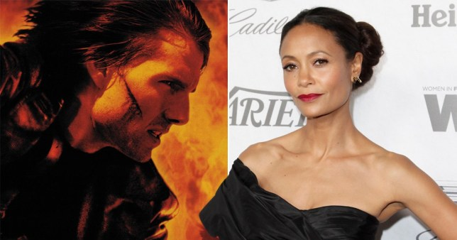 Tom Cruise in Mission: Impossible 2 and Thandie Newton