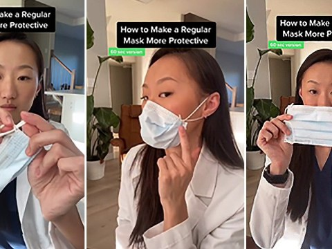 Dentist shares trick to tighten your face mask if it's too loosely fitted