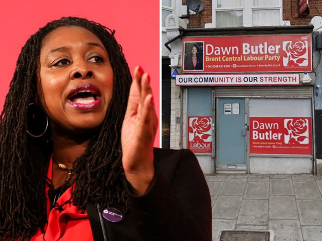 Dawn Butler and her closed office after attacks