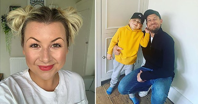 Rosie Ramsey pictured separately alongside Chris Ramsey and son Robin