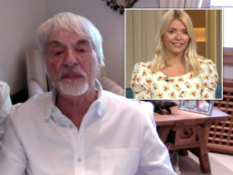 Holly Willoughby and Phillip Schofield wince during awkward interview as Bernie Ecclestone says changing newborn's nappies is 'what wives are for'