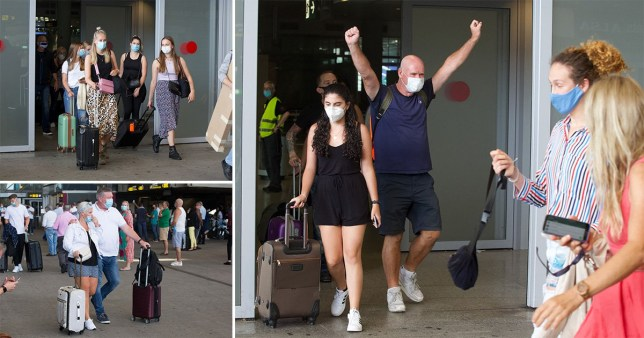 Brits arrive in Malaga after quarantine restrictions are lifted