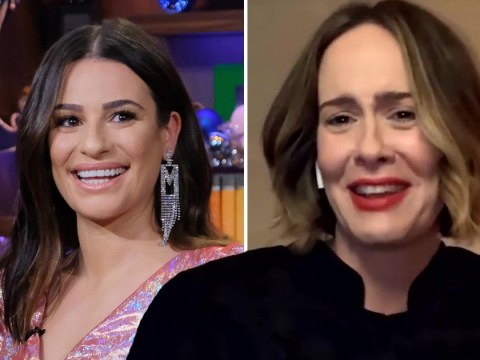Sarah Paulson avoids question on Lea Michele's 'on-set behaviour' in the most 2020 way possible