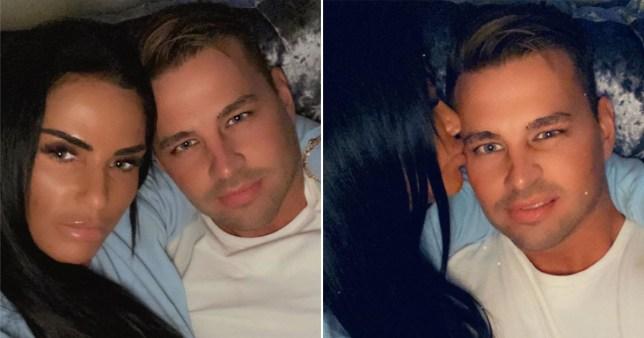 Katie Price Cuddles Up To Boyfriend Carl Woods In Sweet Snaps Metro News