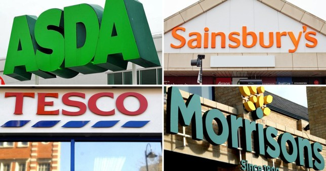 Comp of Asda, Sainsbury's Tesco and Morrisons