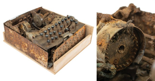 Rare Enigma machine buried at end of World War II up for sale for £16,000