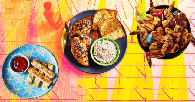 Nando's meals on colourful background