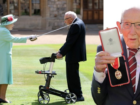 Captain Tom becomes Sir Tom Moore after receiving knighthood from the Queen