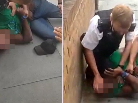 Met Police officer suspended over video of suspect shouting 'get off my neck'