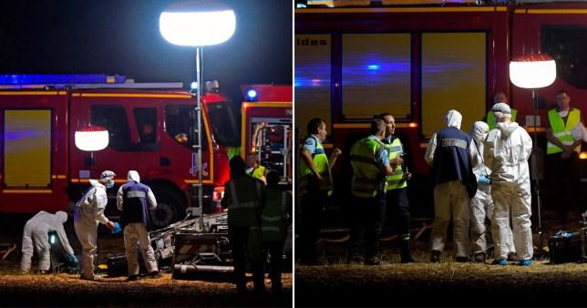 The scene of the crash in France