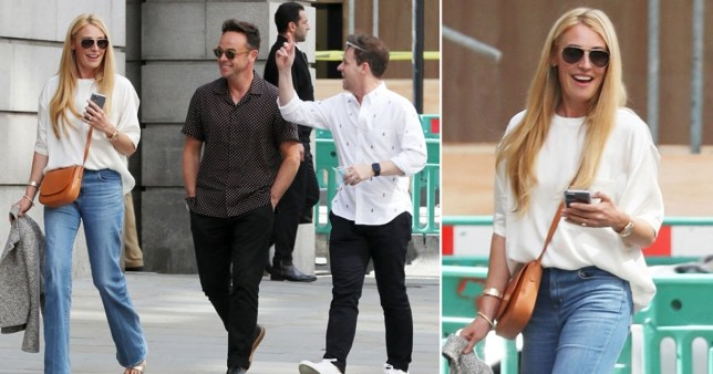 Cat Deeley out with Ant McPartlin and Declan Donnelly in London