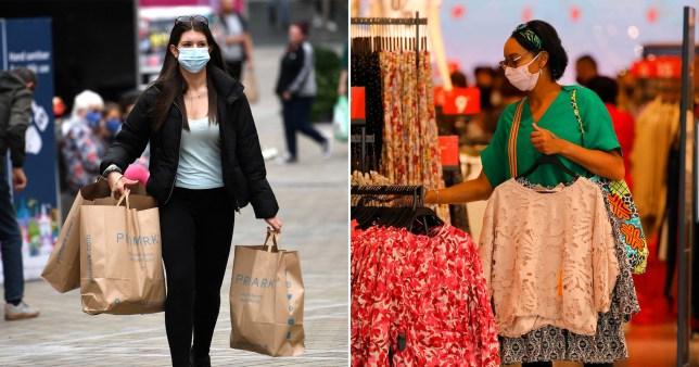Face masks became mandatory in shops on Friday in England