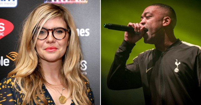 Emma Barnett pictured separately alongside Wiley