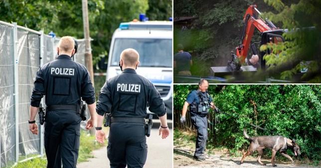 La police allemande enquêtant sur la disparition de Madeleine McCann a repris sa recherche d'un lotissement près de Hanovre, en Allemagne