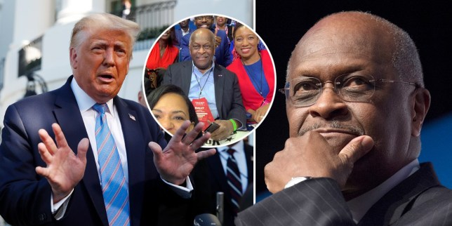 Donald Trump and Herman Cain