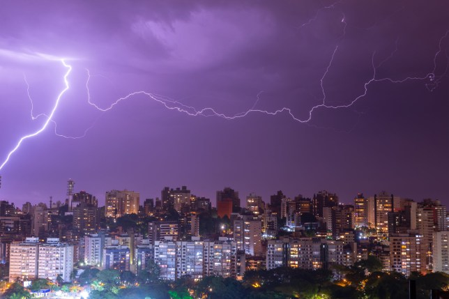 This is a different lightning bolt over Brazil - the 'megaflash' probably looked a lot like this one, only longer (Credits: Shutterstock / Thiago B Trevisan)