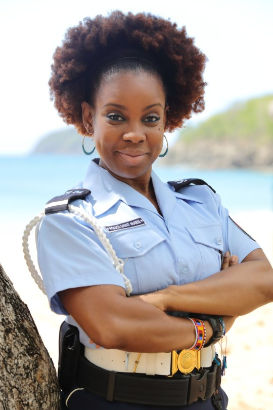 WARNING: Embargoed for publication until 00:00:01 on 28/12/2018 - Programme Name: Death in Paradise S9 - TX: n/a - Episode: Generics (No. Generics) - Picture Shows: **STRICTLY EMBARGOED UNTIL 00:01 HRS ON TUESDAY 28TH DECEMBER 2018** Ruby (SHYKO AMOS) - (C) Red Planet Pictures - Photographer: Denis Guyenon