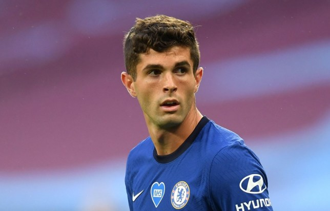 LONDON, ENGLAND - JULY 01: Christian Pulisic of Chelsea looks on during the Premier League match between West Ham United and Chelsea FC at London Stadium on July 01, 2020 in London, England. Football Stadiums around Europe remain empty due to the Coronavirus Pandemic as Government social distancing laws prohibit fans inside venues resulting in all fixtures being played behind closed doors. (Photo by Michael Regan/Getty Images)