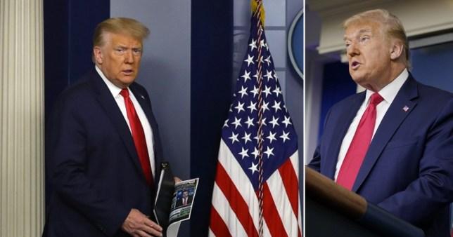 Trump press conference 9:30am EST/2:30pm BST (Picture: Getty, AP)