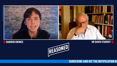 Brexit Campaigner Darren Grimes interviews historian Dr David Starkey on his YouTube channel Reasoned UK in which Starkey says 'slavery was not genocide' because 'so many damn blacks live in Africa and Britain'.