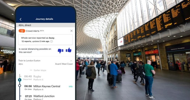 App flags busy trains to commuters so they can avoid them