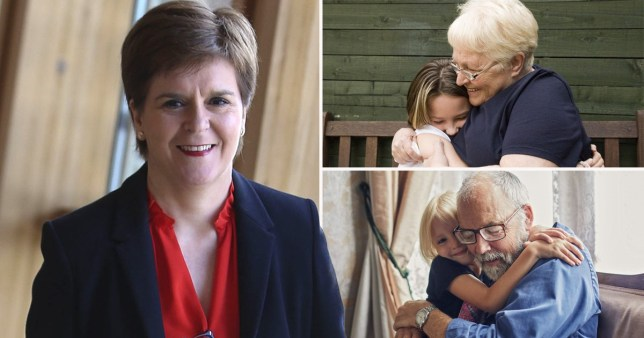 Grandparents in Scotland can hug grandkids from Friday, Sturgeon says
