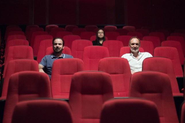 People sat in a cinema