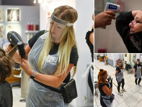 Salons opened at midnight for people in desperate need of a haircut