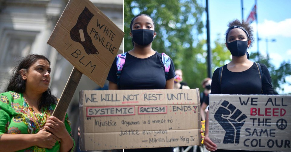 BLM protesters call for an end to racial disparity within NHS