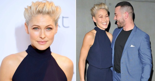 Emma Willis pictured separately alongside picture of her and husband Matt Willis together