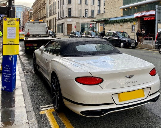 Undated handout photo issued by Greater Manchester Police of Bentley Continental GT that was seized on Peter Street, Manchester, for having no insurance. PA Photo. Issue date: Sunday July 5, 2020. See PA story POLICE Bentley. Photo credit should read: GMP/PA Wire NOTE TO EDITORS: This handout photo may only be used in for editorial reporting purposes for the contemporaneous illustration of events, things or the people in the image or facts mentioned in the caption. Reuse of the picture may require further permission from the copyright holder.
