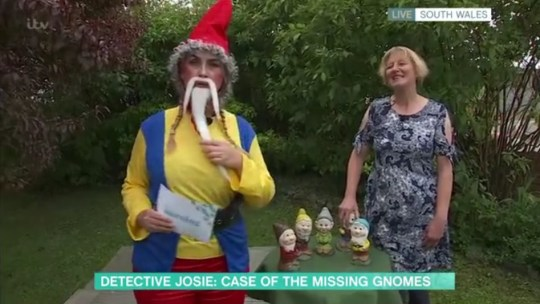 Victim of gnome theft appears on This Morning who has a shrine of Phillip Schofield in her bedroom