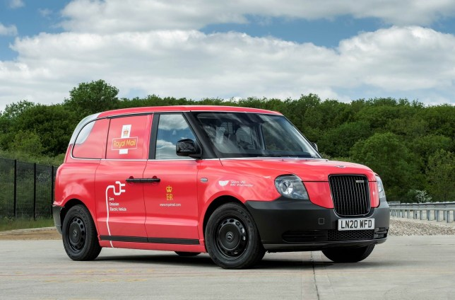 EMBARGOED TO 0001 TUESDAY JULY 7 Undated handout photo issued by Royal Mail of a new VN5 prototype electric van, based on a London taxi cab, which the postal firm is trialling for parcel and letter deliveries, with the aim of cutting emissions. PA Photo. Issue date: Tuesday July 7, 2020. Trials will be held over the next six months on delivery rounds in largely urban areas of Birmingham, Derby, Leeds, Edinburgh and Bristol. London Electric Vehicle Company is trialling the vehicle with 25 companies ahead of the official launch of its new VN5 electric van later this year. See PA story INDUSTRY Van. Photo credit should read: Royal Mail/PA Wire NOTE TO EDITORS: This handout photo may only be used in for editorial reporting purposes for the contemporaneous illustration of events, things or the people in the image or facts mentioned in the caption. Reuse of the picture may require further permission from the copyright holder.