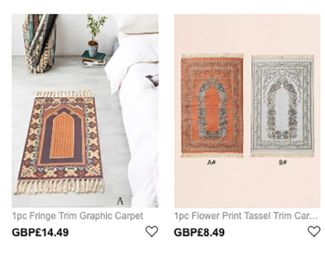 Shein apologises for selling prayer mats