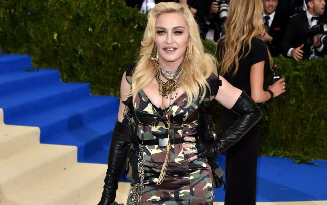 Madonna on the red carpet