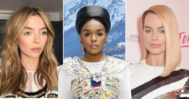 celebrities wearing White eyeliner