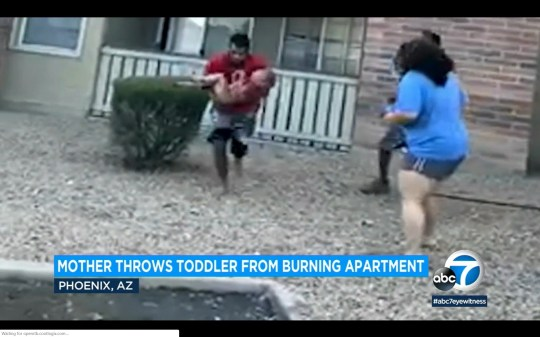 Phillip Blanks played wide receiver at a college in Southern California. But the greatest catch he ever made in his life came long after his playing career ended. Heart-stopping video shows Blanks diving to catch a 3-year-old boy thrown off the balcony of a burning building in Phoenix on July 3.