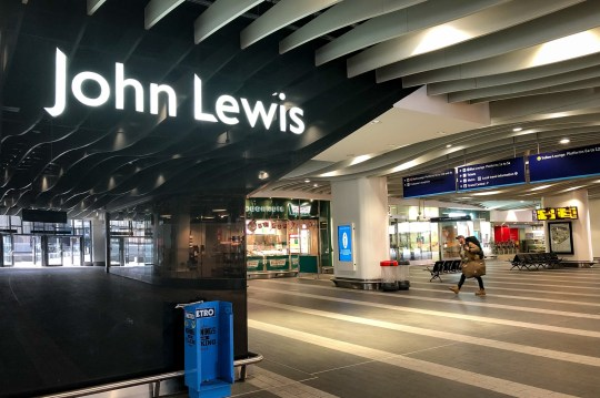 John Lewis shop in Birmingham's Grand Central Station.