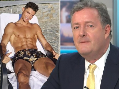 Cristiano Ronaldo shows off impressive abs as he soaks up sun and Piers Morgan is here for it