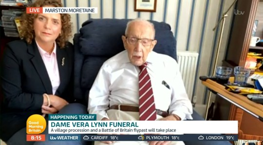 Colonel Tom Moore shared a sweet message to Dame Vera Lynn