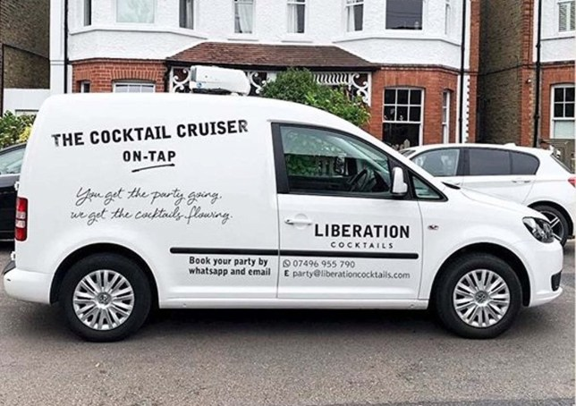 Cocktail van delivering espresso martinis and aperol spritz around London