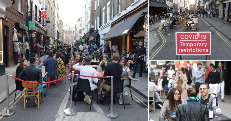 Soho looks a bit more orderly than it did last weekend PA