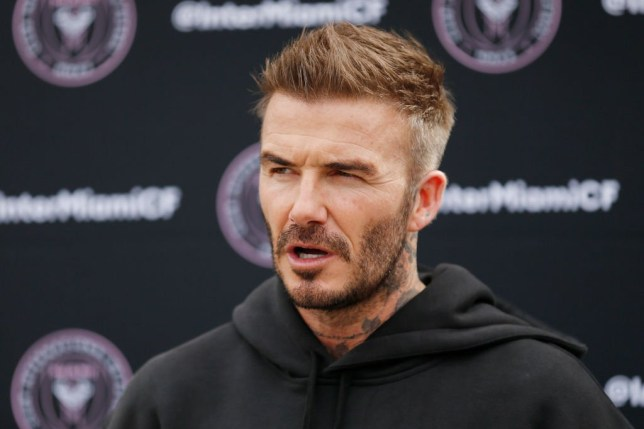 FORT LAUDERDALE, FLORIDA - FEBRUARY 25: Owner and President of Soccer Operations David Beckham addresses the media ahead of Inter Miami CF's inaugural match on March 1st against LAFC, during media availability at Inter Miami CF Stadium on February 25, 2020 in Fort Lauderdale, Florida. (Photo by Michael Reaves/Getty Images)