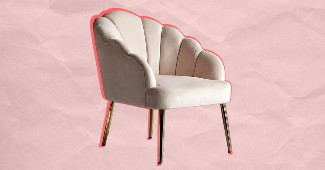 the Homebase scallop chair