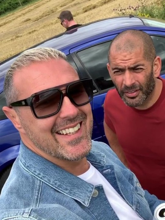Paddy McGuinness returns to Top Gear filming Pics: Paddy McGuinness/Instagram/Rex