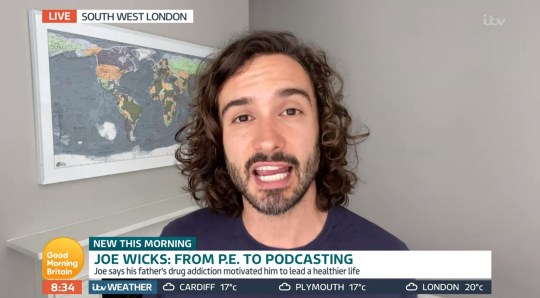 Mandatory Credit: Photo by ITV/REX (10710836n) Joe Wicks 'Good Morning Britain' TV Show, London, UK - 14 Jul 2020