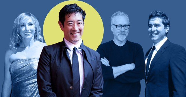 Mythbuster co-stars Adam Savage, Tory Belleci and Kari Byron lead tributes to Grant Imahara (Picture: Getty)