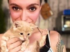 Jack Monroe 'overwhelmed with grief' as cat Pretzel dies following seizure