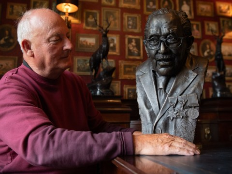 Artist creates bronze sculpture of Captain Tom to display at NHS Charities HQ