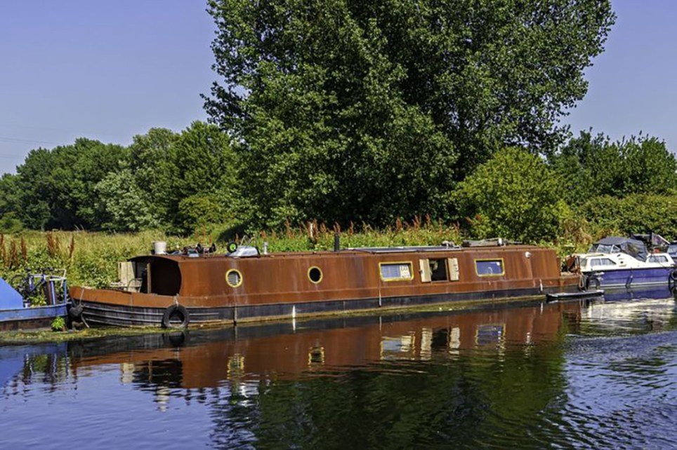 Picture: Rightmove Get on the property river in London with this ??150k eco-friendly houseboat for sale now